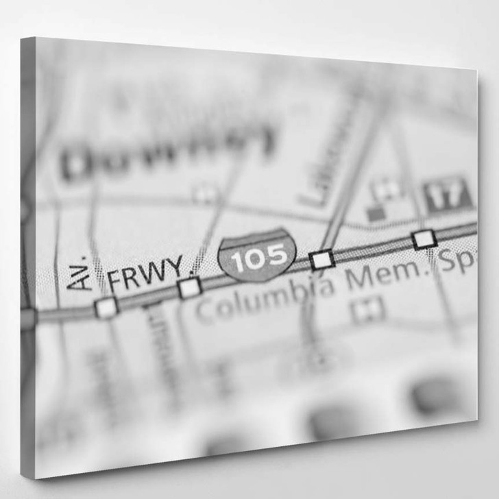 105 California Usa - Canvas Wall Decor