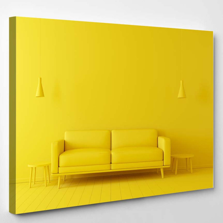 3D Render Home Interior High Resolution - Canvas Wall Decor