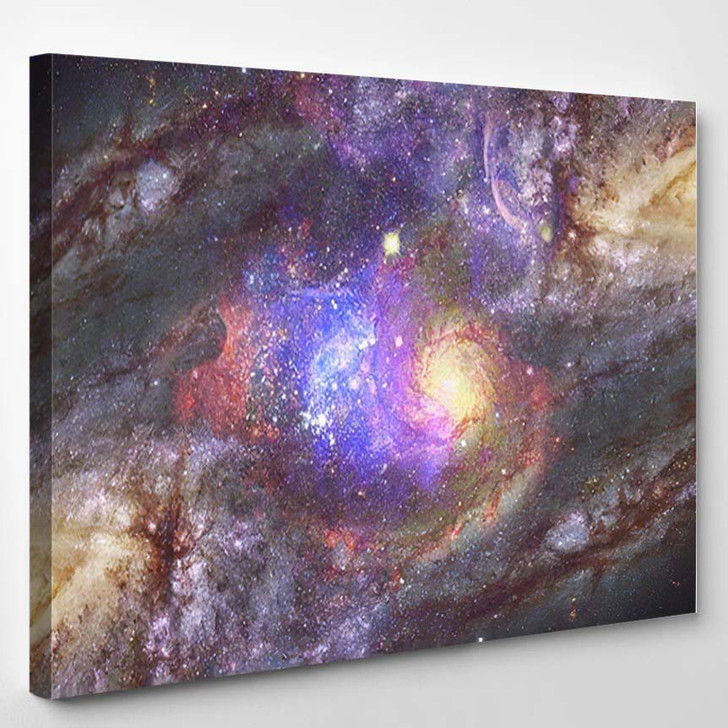 Starry Deep Outer Space Nebula Galaxy 1 - Galaxy Sky and Space Canvas Wall Decor