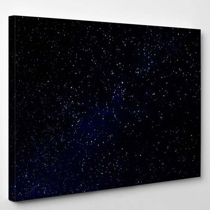 Stars Viewed Ultraviolent Telescope - Galaxy Sky and Space Canvas Wall Decor