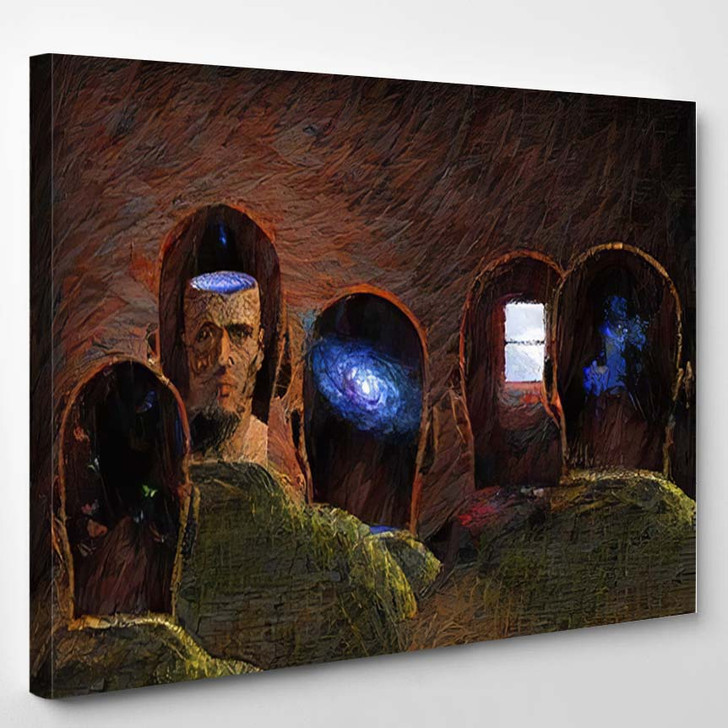 Surreal Painting Minds 3D Rendering - Galaxy Sky and Space Canvas Wall Decor