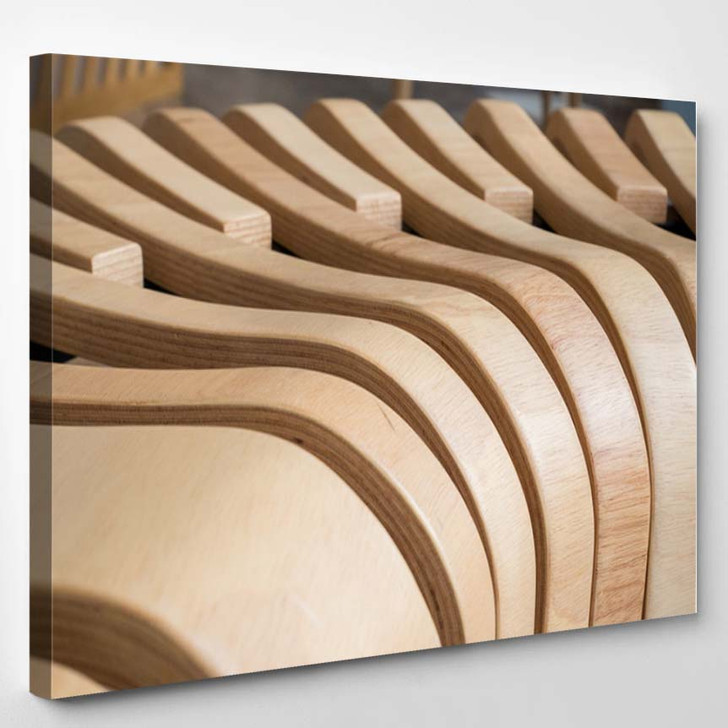 3D Abstract Wavy Lines Background - Canvas Wall Decor