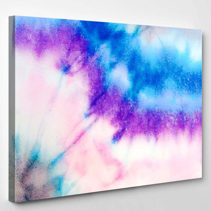 Tie Dye Pattern Artistic Wallpaper Colorful - Galaxy Sky and Space Canvas Wall Decor