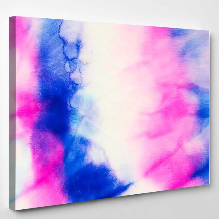 Tie Dye Pattern Grunge Hand Drawn - Galaxy Sky and Space Canvas Wall Decor