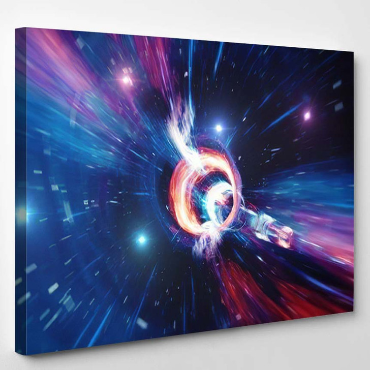 Travel Through Wormhole Time Space Filled 3 - Galaxy Sky and Space Canvas Wall Decor
