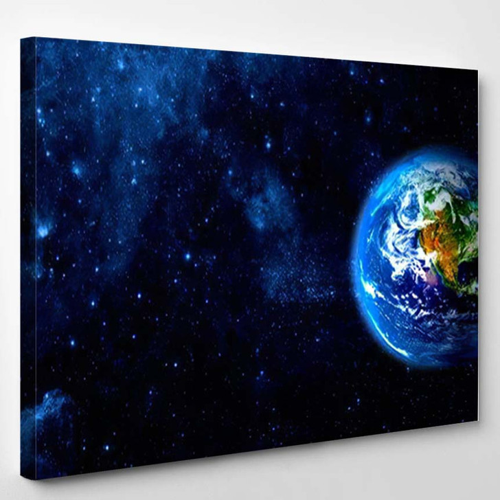 View Earth Moon Elements This Image 6 - Galaxy Sky and Space Canvas Wall Decor