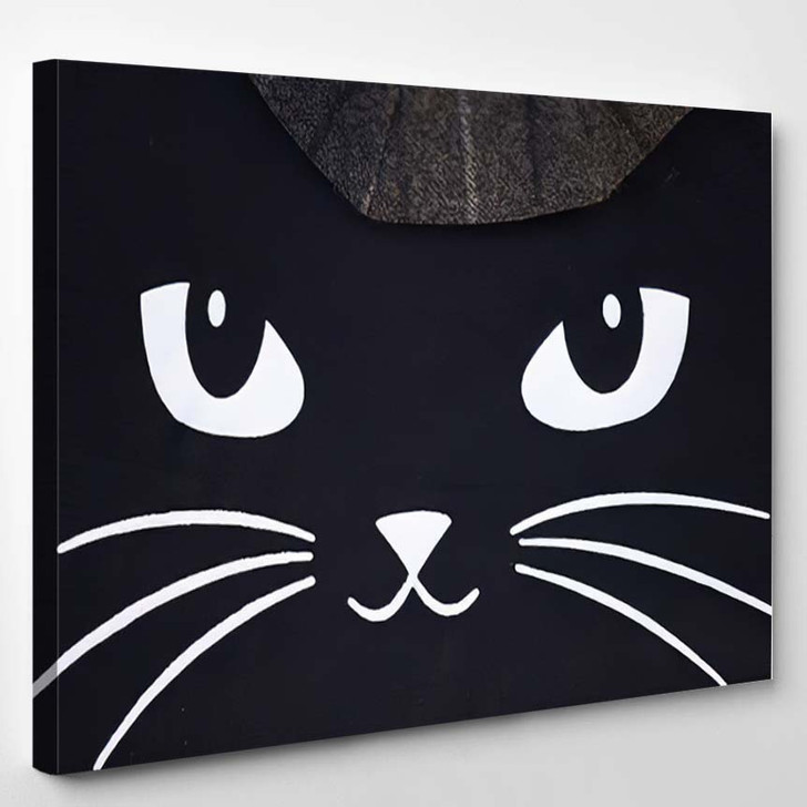 Image Fashionable Black Cat Wears Modern - Black Panther Animals Canvas Wall Decor