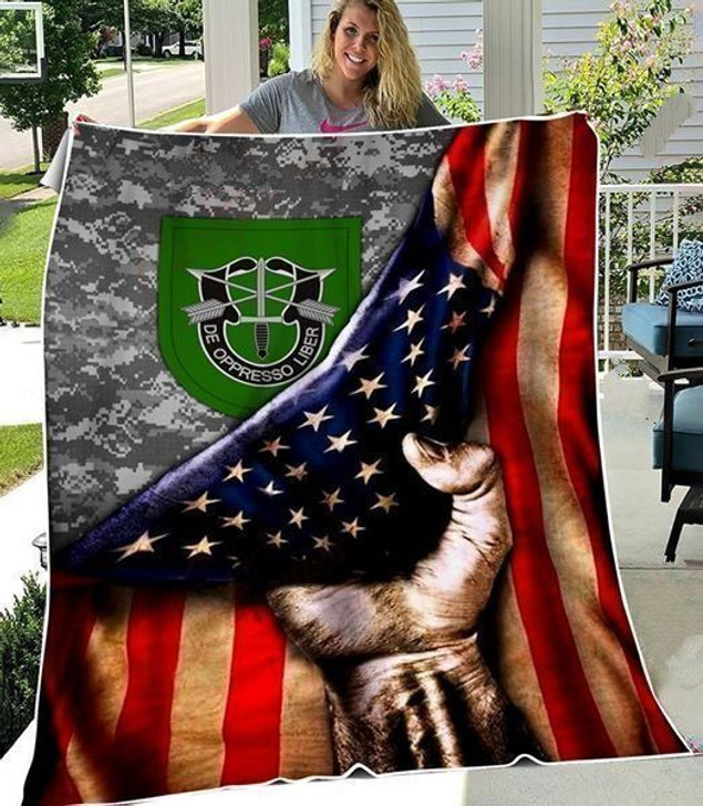 10th Special Forces Group - Sherpa Fleece Blanket