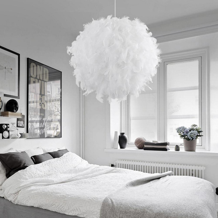 220V Modern Pendant Ceiling Lamp Feather Ceiling Droplight - Pendant Light Collection