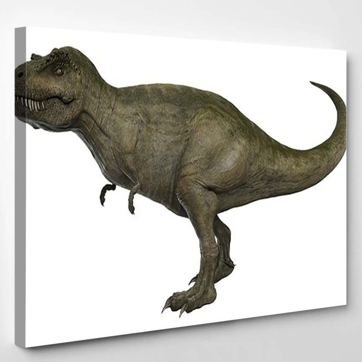 3D Rendered Trex Tyrannosaurus Rex 7 - Godzilla Animals Canvas Wall Decor