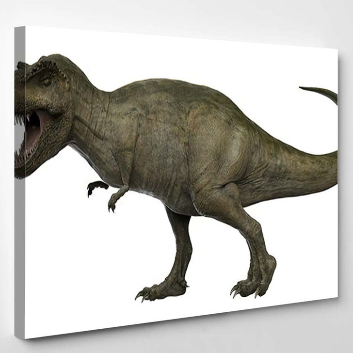 3D Rendered Trex Tyrannosaurus Rex 13 - Godzilla Animals Canvas Wall Decor