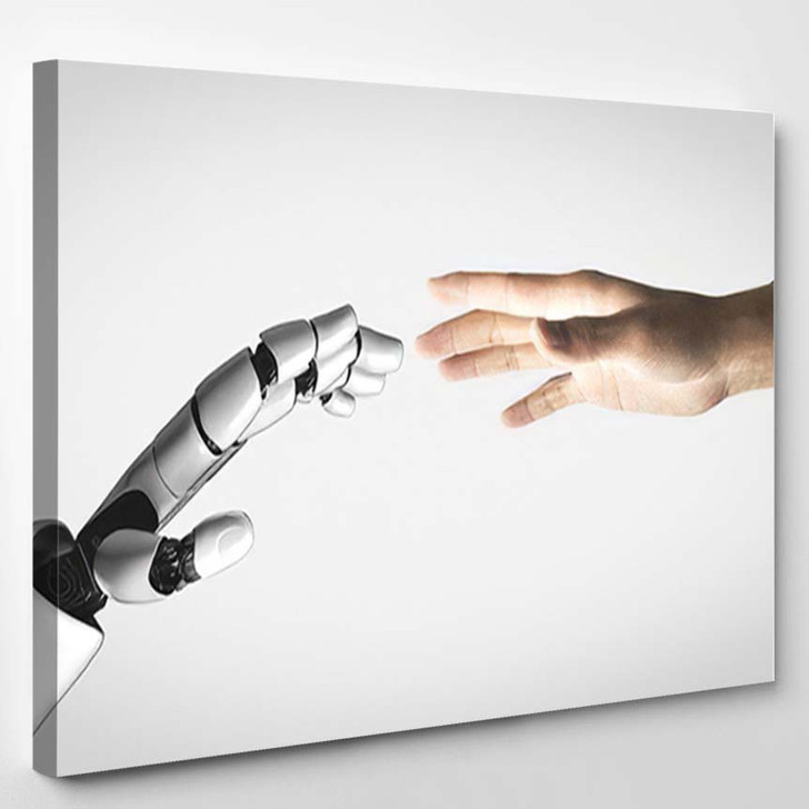 3D Rendering Artificial Intelligence Ai Research 1 - Creation of Adam Canvas Wall Decor