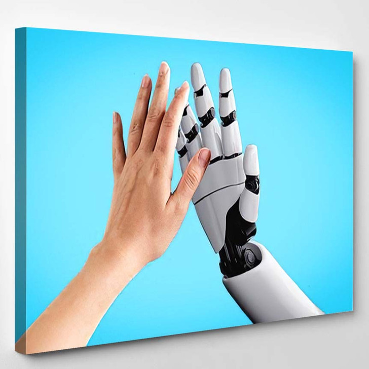 3D Rendering Artificial Intelligence Ai Research 2 - Creation of Adam Canvas Wall Decor