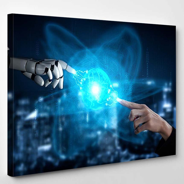 3D Rendering Artificial Intelligence Ai Research 3 - Creation of Adam Canvas Wall Decor