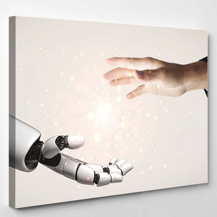 3D Rendering Artificial Intelligence Ai Research 6 - Creation of Adam Canvas Wall Decor