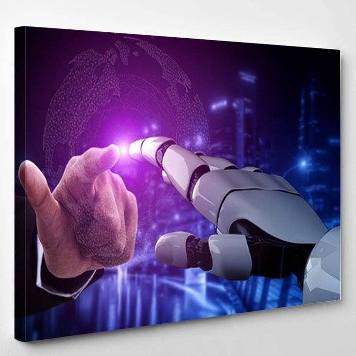 3D Rendering Artificial Intelligence Ai Research 8 - Creation of Adam Canvas Wall Decor