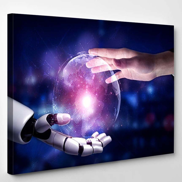 3D Rendering Artificial Intelligence Ai Research 13 - Creation of Adam Canvas Wall Decor
