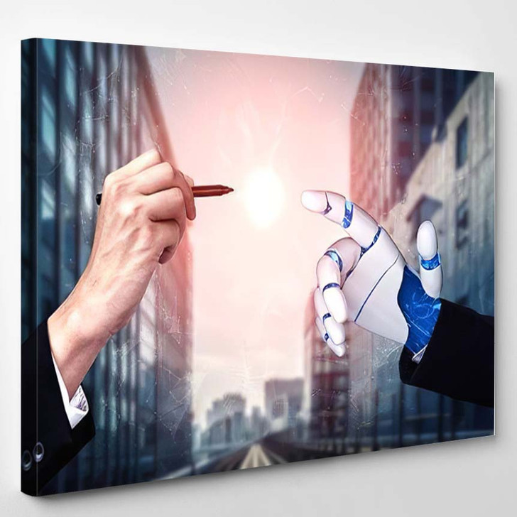3D Rendering Artificial Intelligence Ai Research 15 - Creation of Adam Canvas Wall Decor