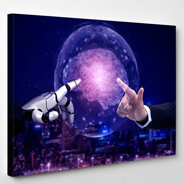 3D Rendering Artificial Intelligence Ai Research 20 - Creation of Adam Canvas Wall Decor