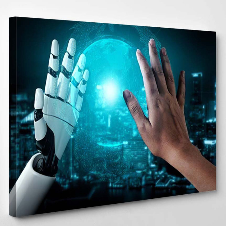 3D Rendering Artificial Intelligence Ai Research 25 - Creation of Adam Canvas Wall Decor