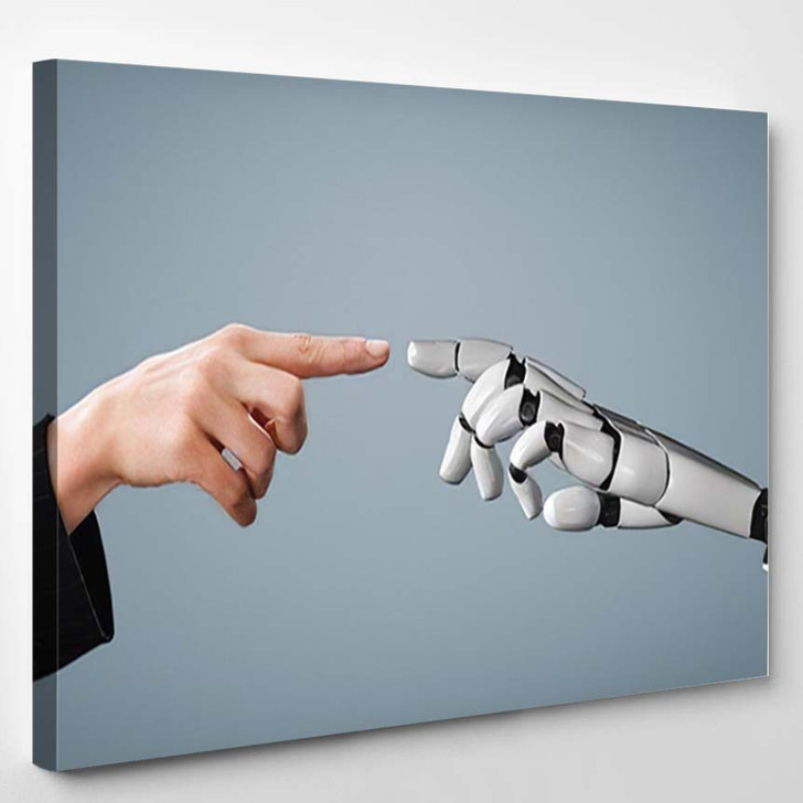 3D Rendering Artificial Intelligence Ai Research 28 - Creation of Adam Canvas Wall Decor