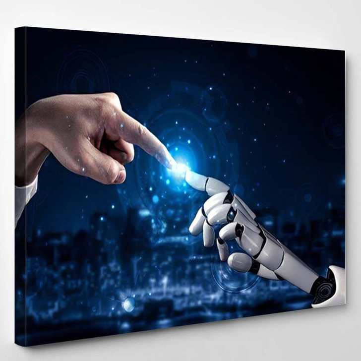 3D Rendering Artificial Intelligence Ai Research 30 - Creation of Adam Canvas Wall Decor