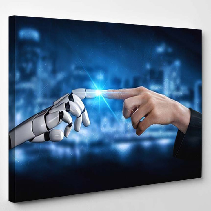3D Rendering Artificial Intelligence Ai Research 33 - Creation of Adam Canvas Wall Decor