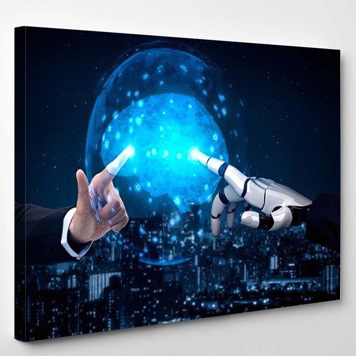 3D Rendering Artificial Intelligence Ai Research 41 - Creation of Adam Canvas Wall Decor