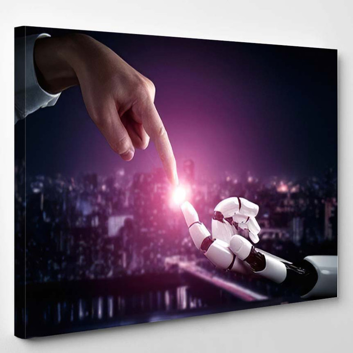 3D Rendering Artificial Intelligence Ai Research 43 - Creation of Adam Canvas Wall Decor