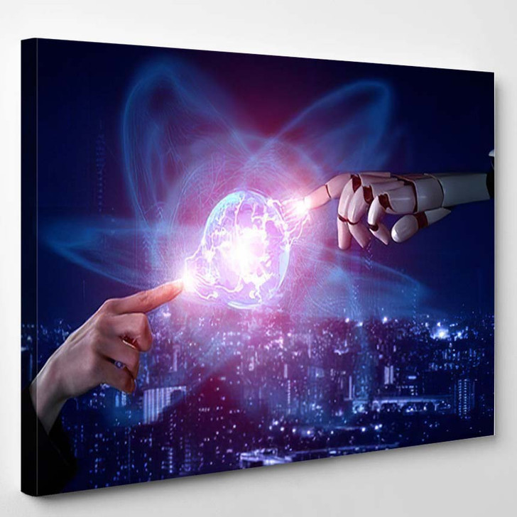3D Rendering Artificial Intelligence Ai Research 46 - Creation of Adam Canvas Wall Decor