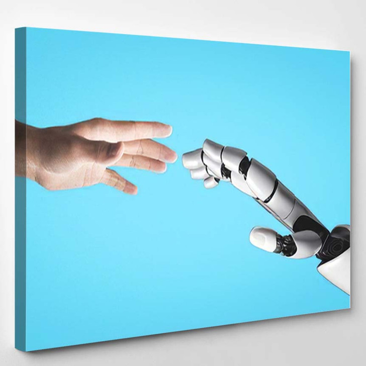 3D Rendering Artificial Intelligence Ai Research 47 - Creation of Adam Canvas Wall Decor