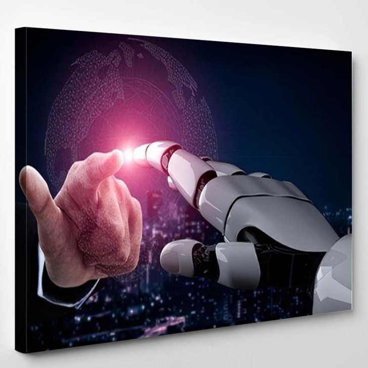 3D Rendering Artificial Intelligence Ai Research 48 - Creation of Adam Canvas Wall Decor