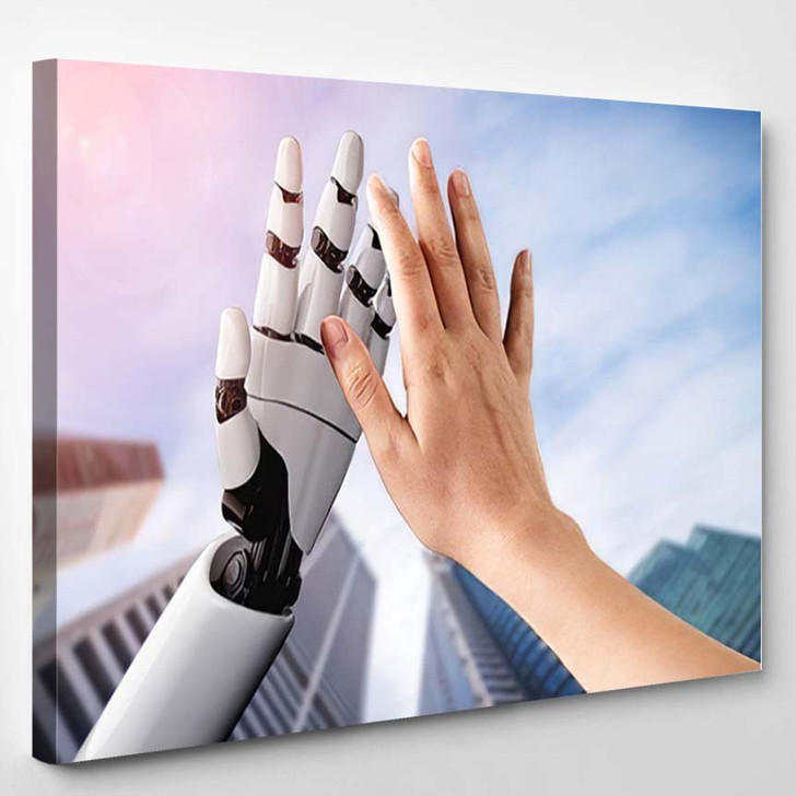3D Rendering Artificial Intelligence Ai Research 49 - Creation of Adam Canvas Wall Decor