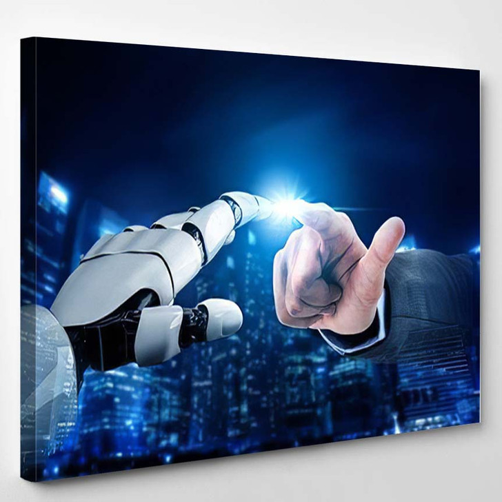 3D Rendering Futuristic Robot Technology Development 12 - Creation of Adam Canvas Wall Decor