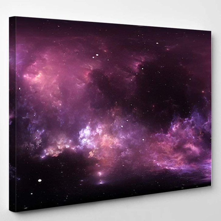360 Degree Interstellar Cloud Dust Gas - Galaxy Sky and Space Canvas Wall Decor