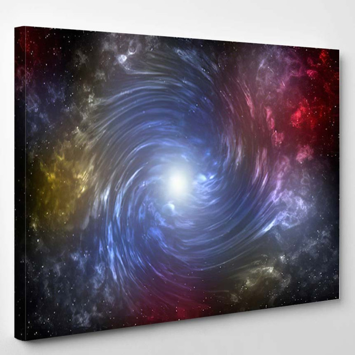 3D Illustration Planets Galaxy Science Fiction 8 - Galaxy Sky and Space Canvas Wall Decor