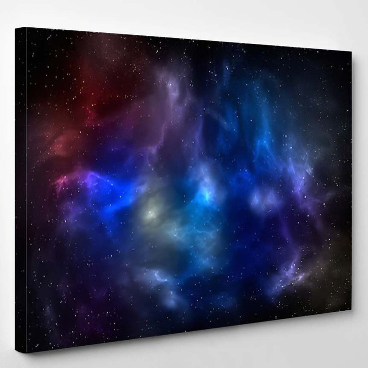 3D Illustration Planets Galaxy Science Fiction 13 - Galaxy Sky and Space Canvas Wall Decor