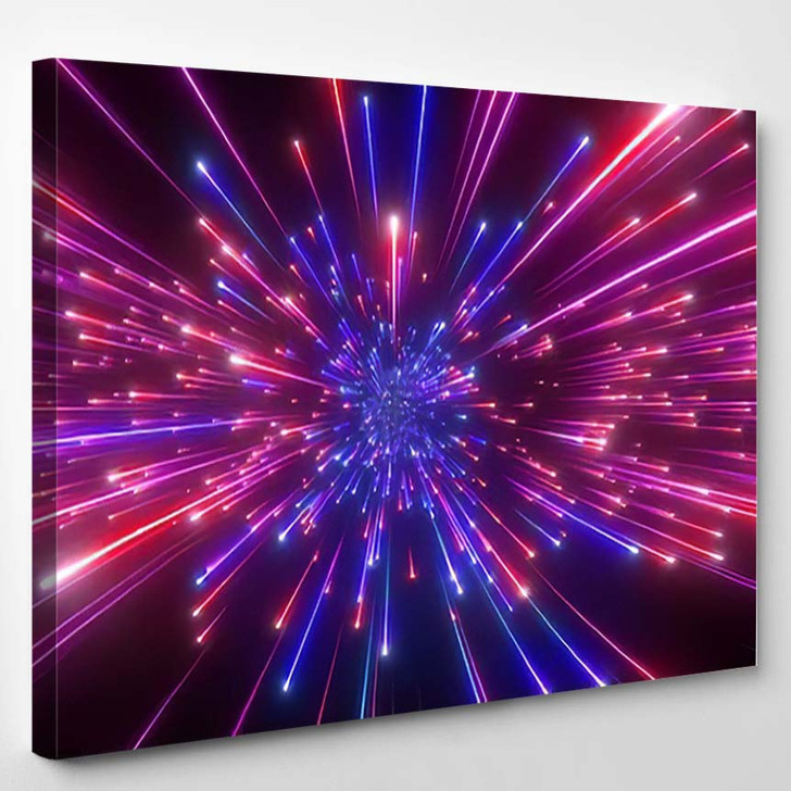 3D Render Big Bang Galaxy Expanding - Galaxy Sky and Space Canvas Wall Decor