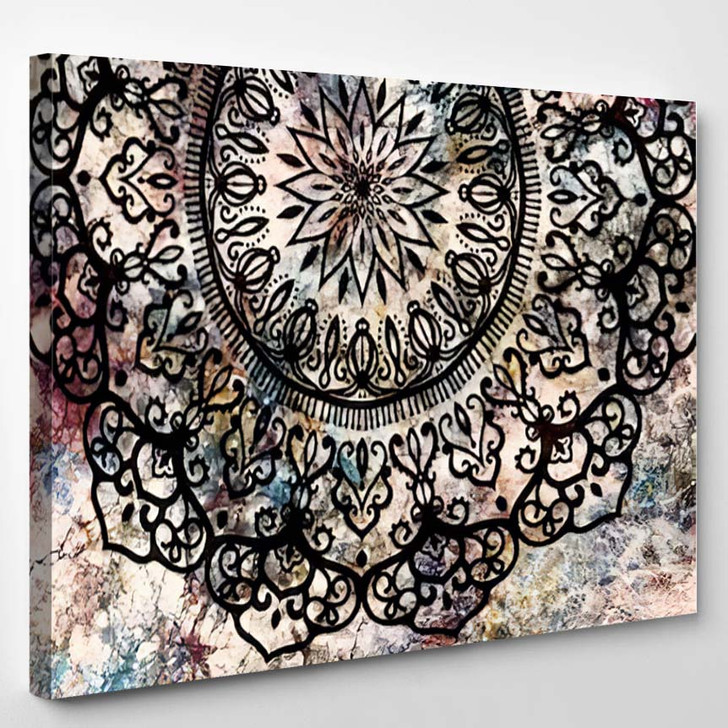Abstract Ancient Geometric Star Field Colorful 11 - Galaxy Sky and Space Canvas Wall Decor