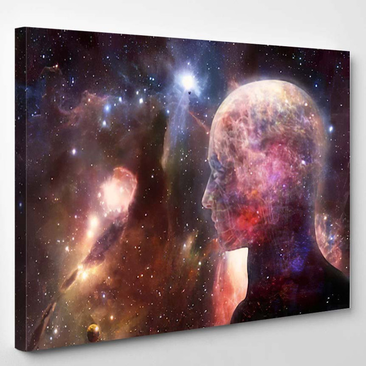 Abstract Artistic 3D Illustration Digital Modern - Galaxy Sky and Space Canvas Wall Decor