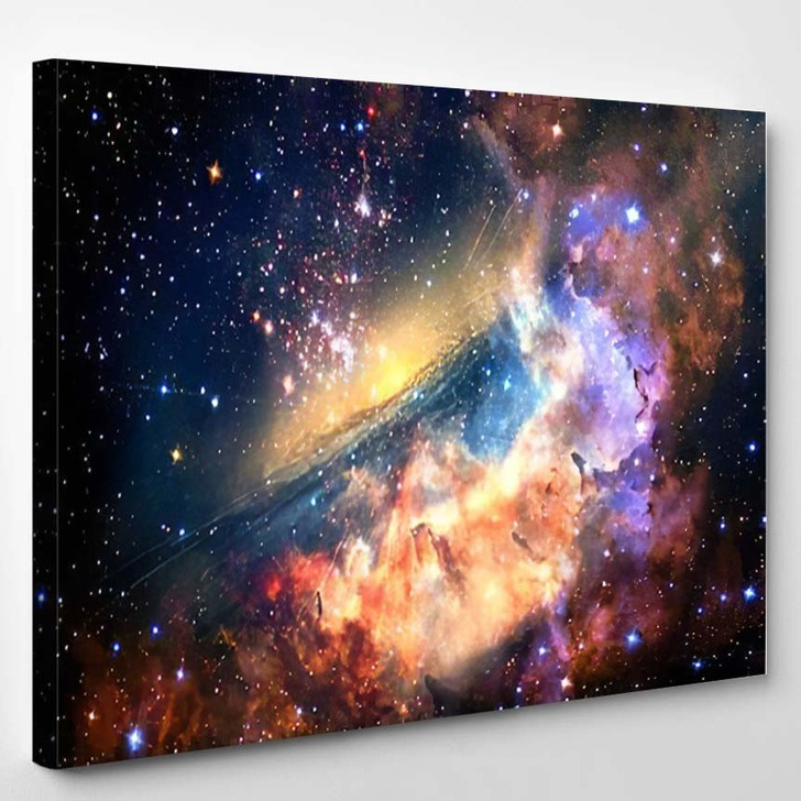 Abstract Artistic Amazing Multicolored Unique Smooth - Galaxy Sky and Space Canvas Wall Decor