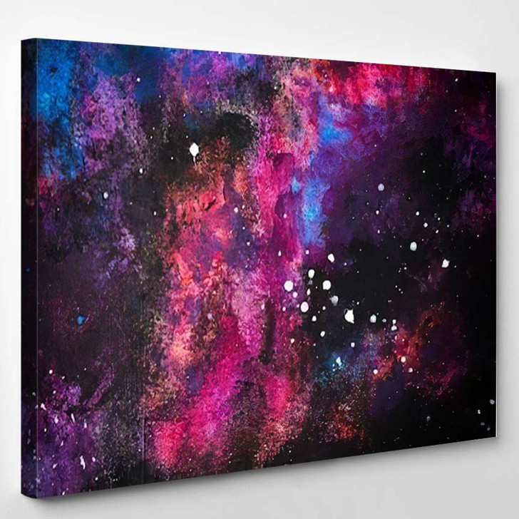 Abstract Background Colorful Painted On Wall - Galaxy Sky and Space Canvas Wall Decor