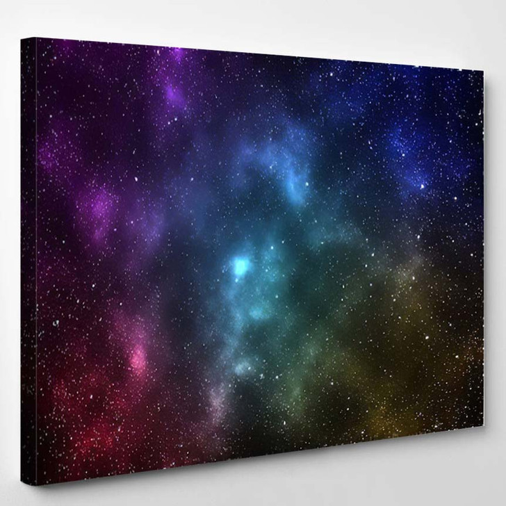 Abstract Colorful Galaxy View Space - Galaxy Sky and Space Canvas Wall Decor