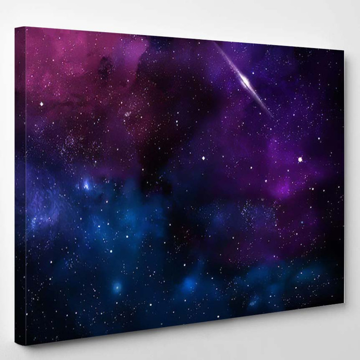Abstract Composition On Topic Cosmos Nebulous - Galaxy Sky and Space Canvas Wall Decor