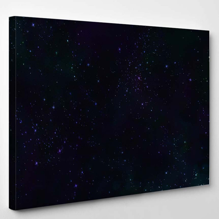Abstract Digital Watercolor Galaxy Painting Design - Galaxy Sky and Space Canvas Wall Decor