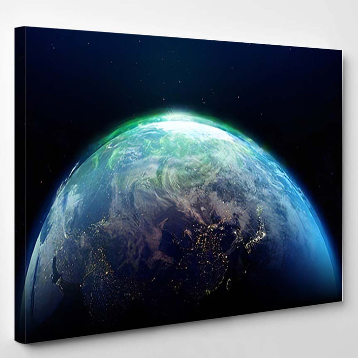 Abstract Earth Space Galaxy Elements This 1 - Galaxy Sky and Space Canvas Wall Decor
