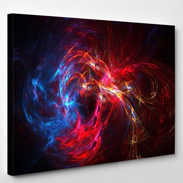 Abstract Fractal Background 2 - Galaxy Sky and Space Canvas Wall Decor