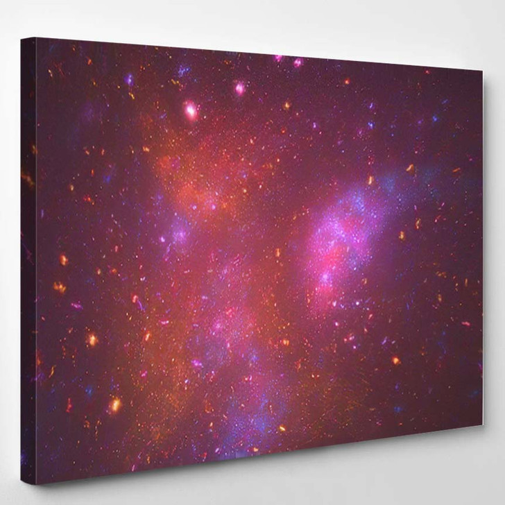 Abstract Fractal Illustration Looks Like Galaxies - Galaxy Sky and Space Canvas Wall Decor