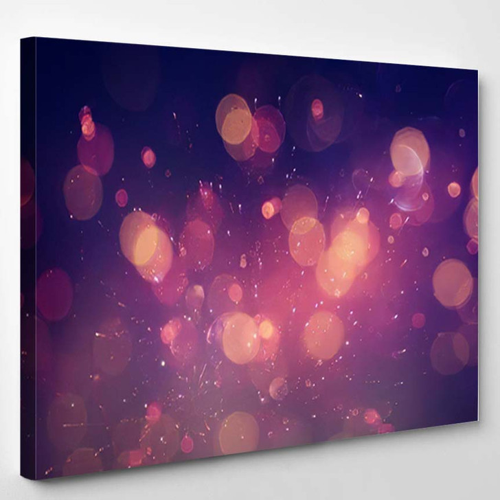 Abstract Glitter Lights Background Red Black 1 - Galaxy Sky and Space Canvas Wall Decor