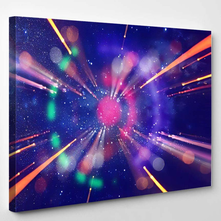 Abstract Lens Flare Concept Image Space 3 - Galaxy Sky and Space Canvas Wall Decor